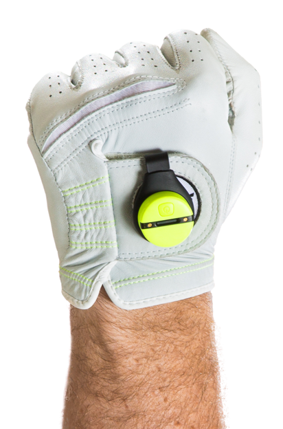 Zepp is easily attached to your golf glove