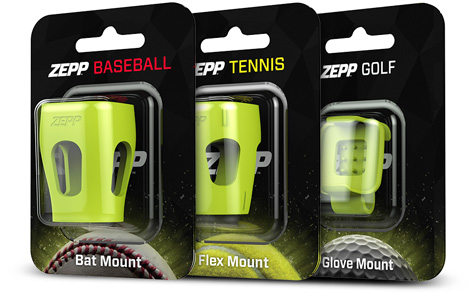Zepp mounts for baseball, tennis, and golf
