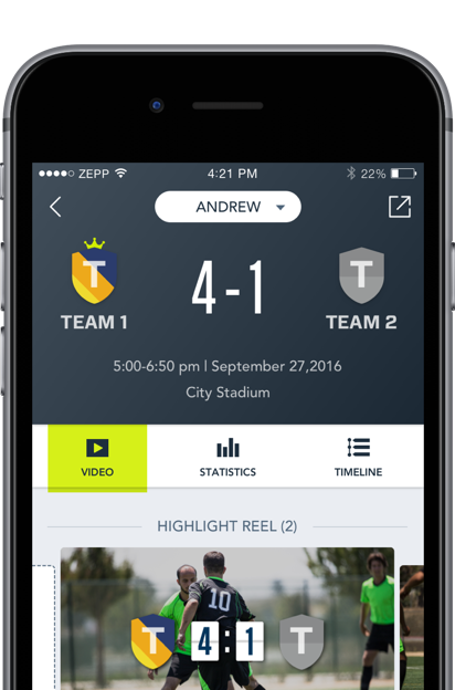 Analyze your soccer data on your mobile device