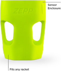 Flexible Zepp mount for tennis